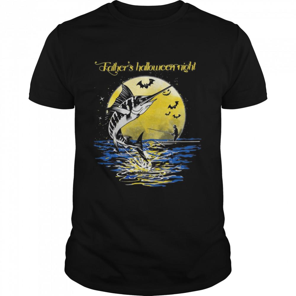 Fishing Fathers Halloween Night shirt Classic Men's T-shirt