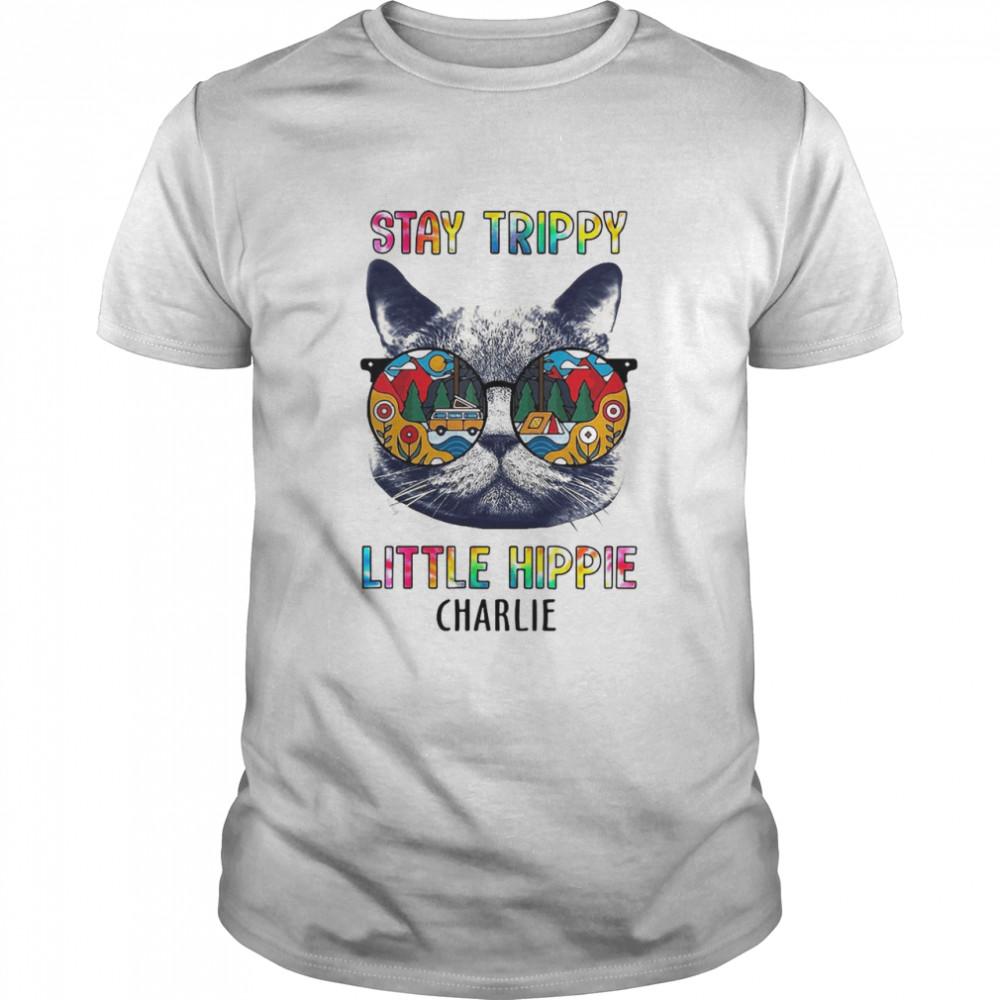 Hippie Cat Stay Trippy Little Hippie Charlie T-shirt Classic Men's T-shirt