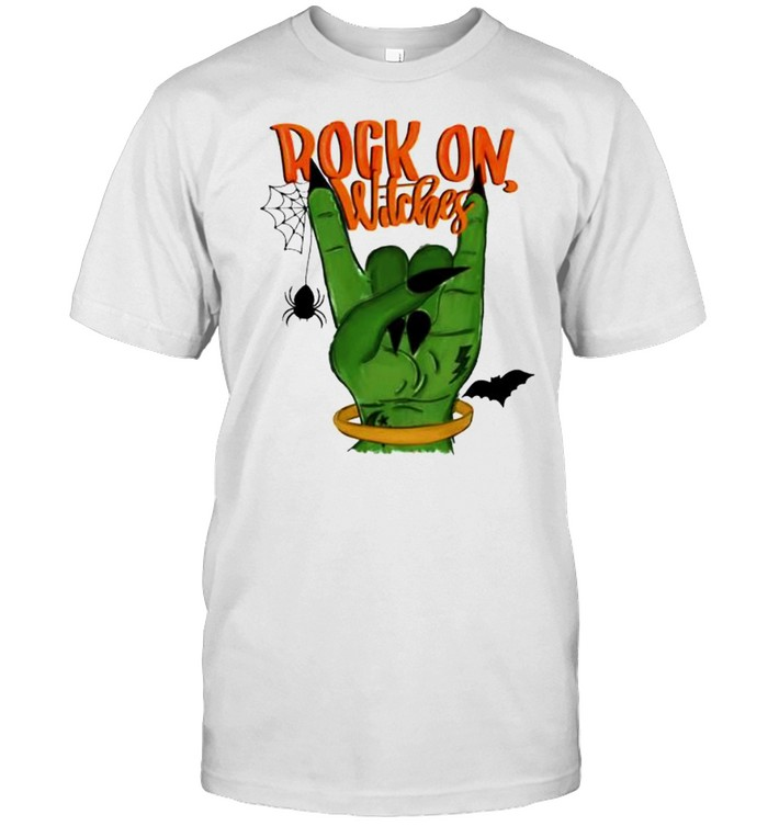 Rock on witches Halloween shirt Classic Men's T-shirt