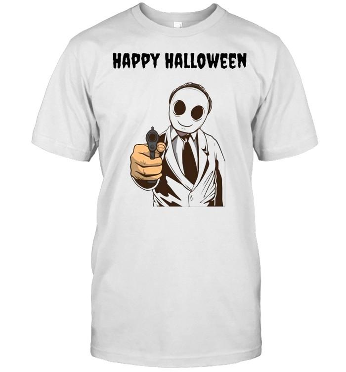 cary Modern Halloween Ghost Happy Halloween T-shirt Classic Men's T-shirt