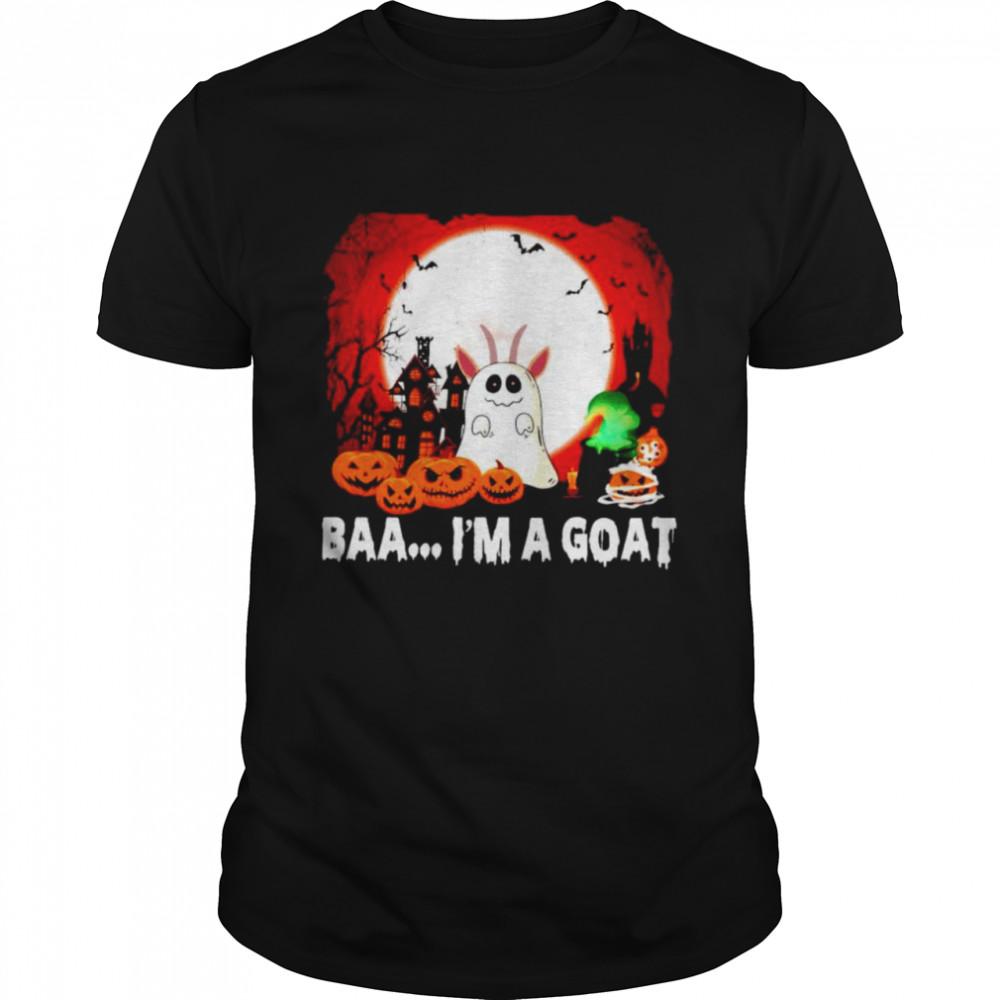 Ghost baa I'm a goat Halloween shirt Classic Men's T-shirt