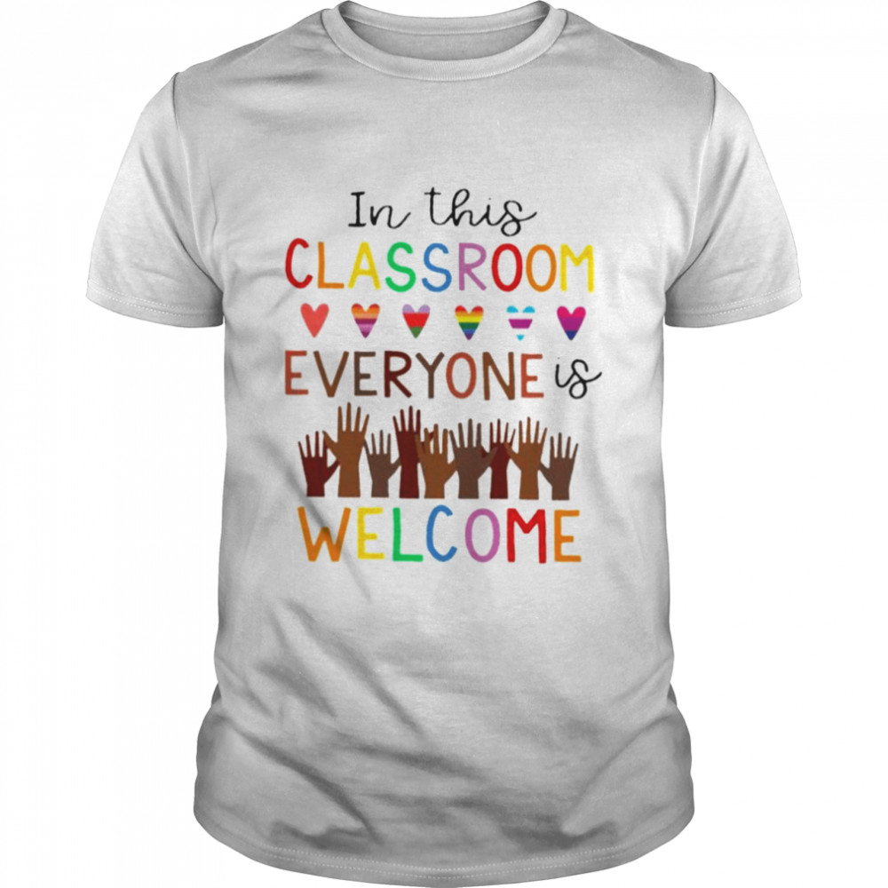 In this classroom everyone is welcome shirt Classic Men's T-shirt