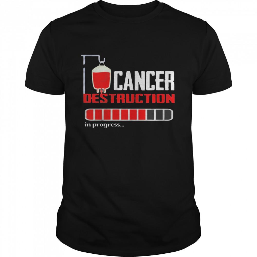 Cancer destruction in progress shirt Classic Men's T-shirt