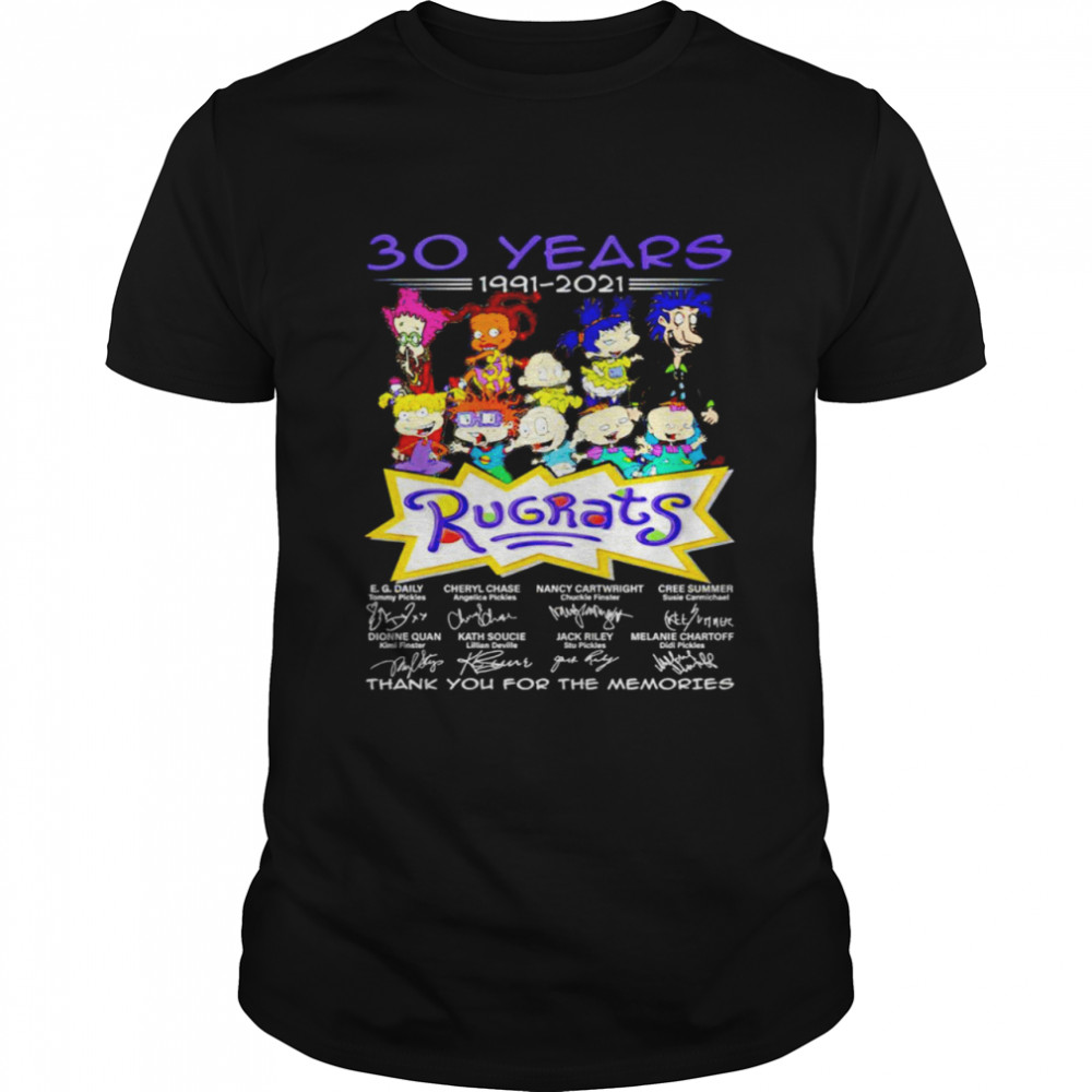 30 years 1991 2021 Rugrats signatures thank you for the memories shirt Classic Men's T-shirt