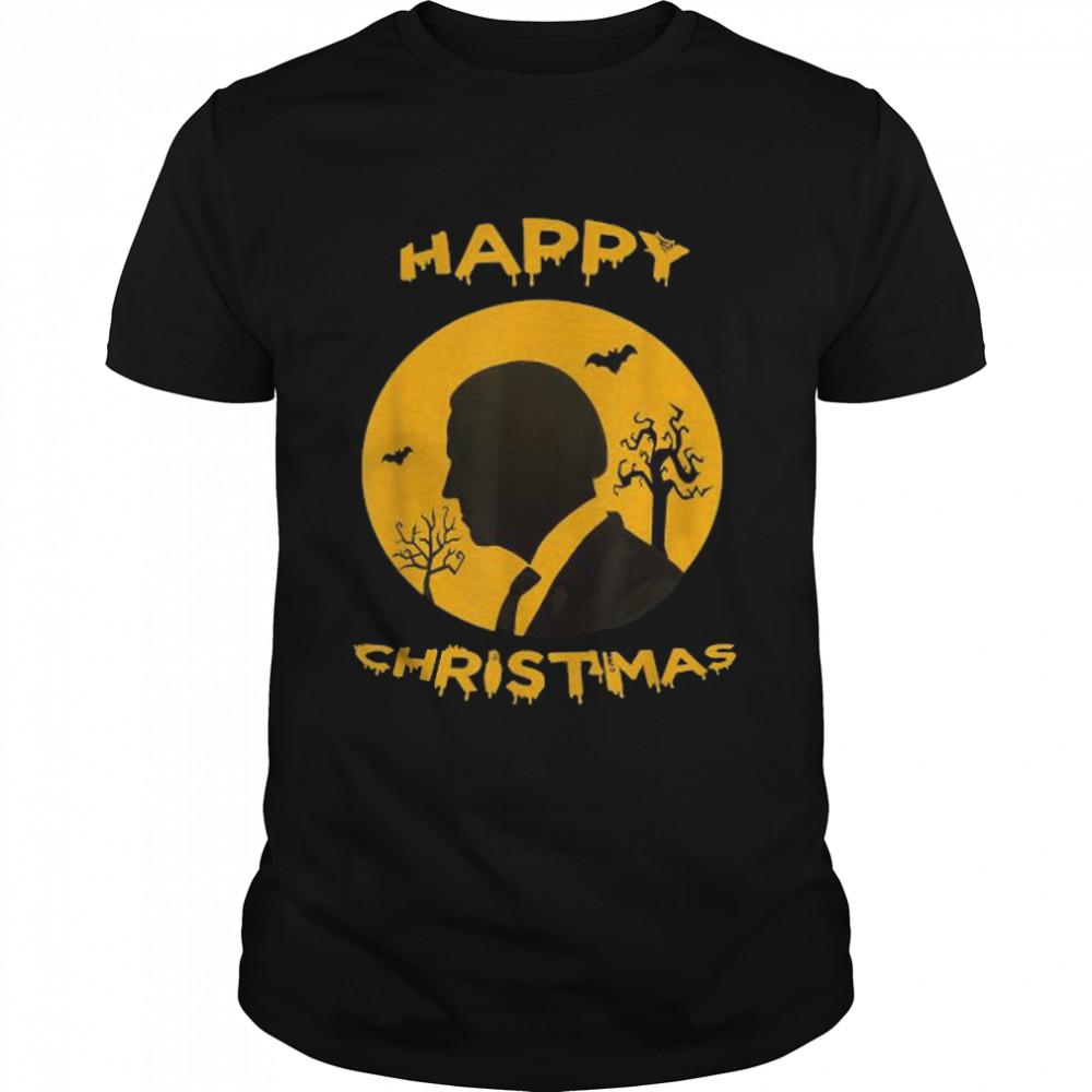 Happy Christmas Halloween Jokes Pumpkin Funny Joe Biden T- Classic Men's T-shirt
