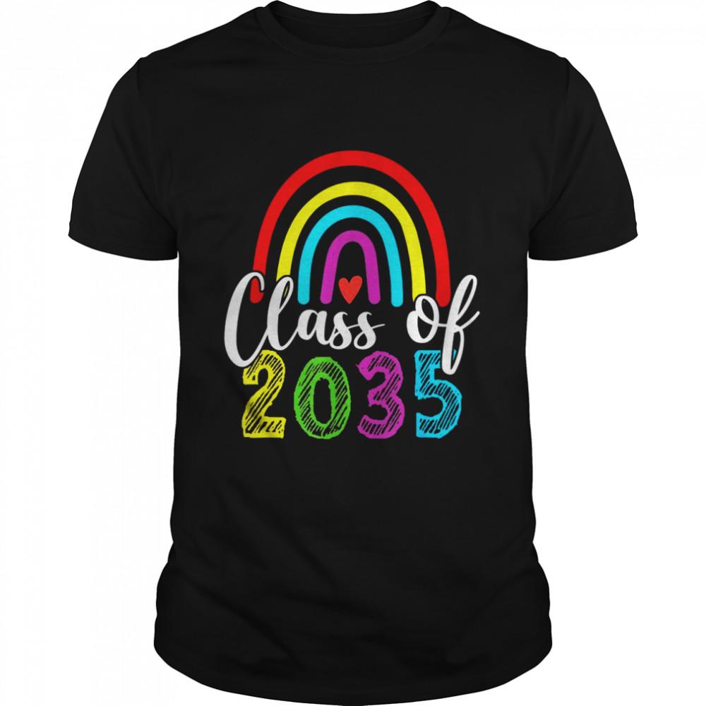 Class Of 2035 Grow With Me Prek Kindergarten Graduation  Classic Men's T-shirt